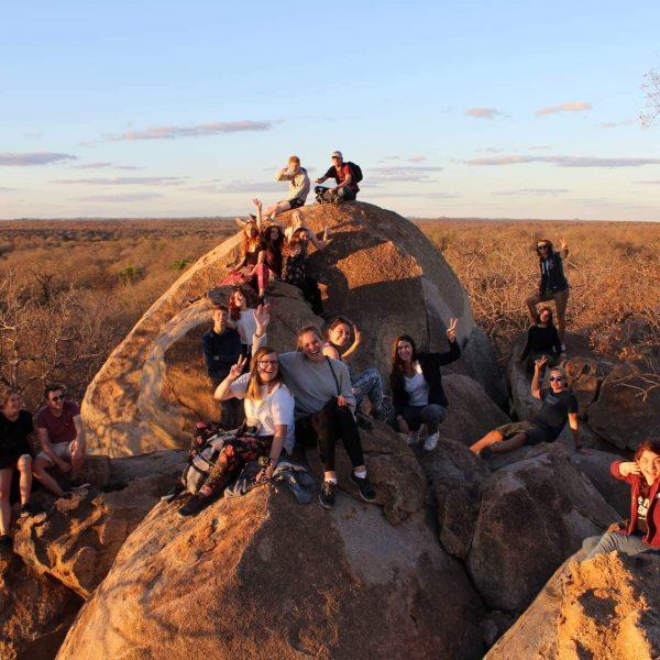 Group on Leopard Rock