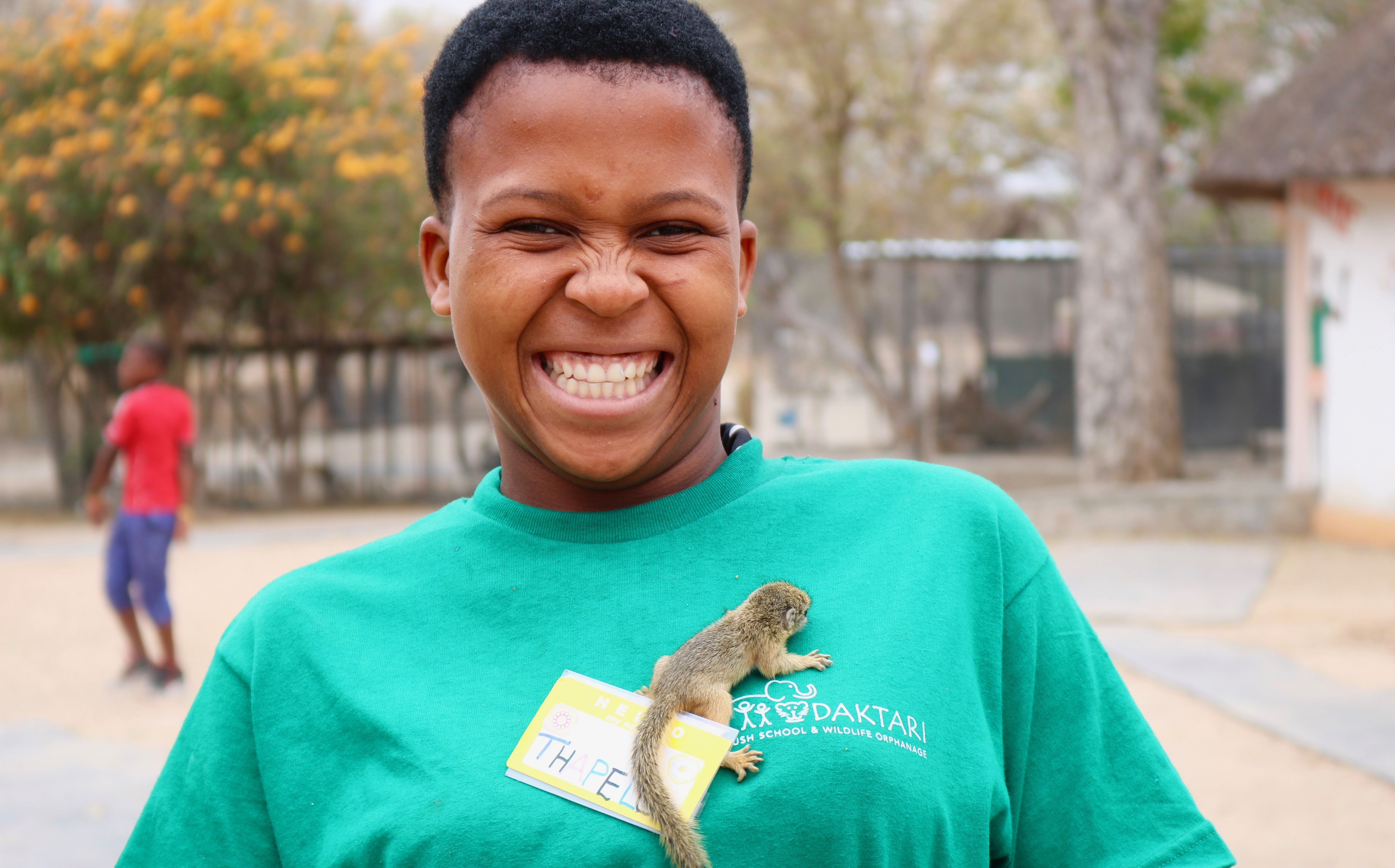 girl with squirrel